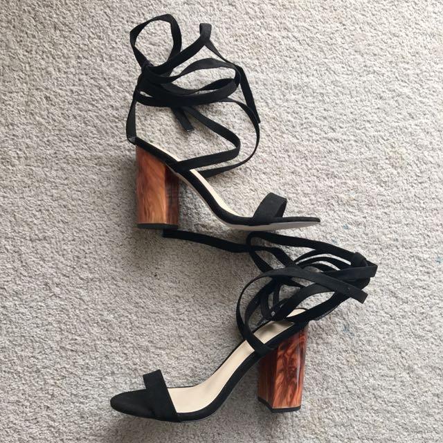 Never worn, Strappy Heel