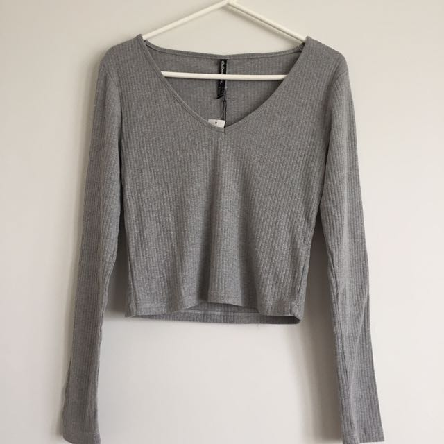 NEW x4 All About Eve Grey Top