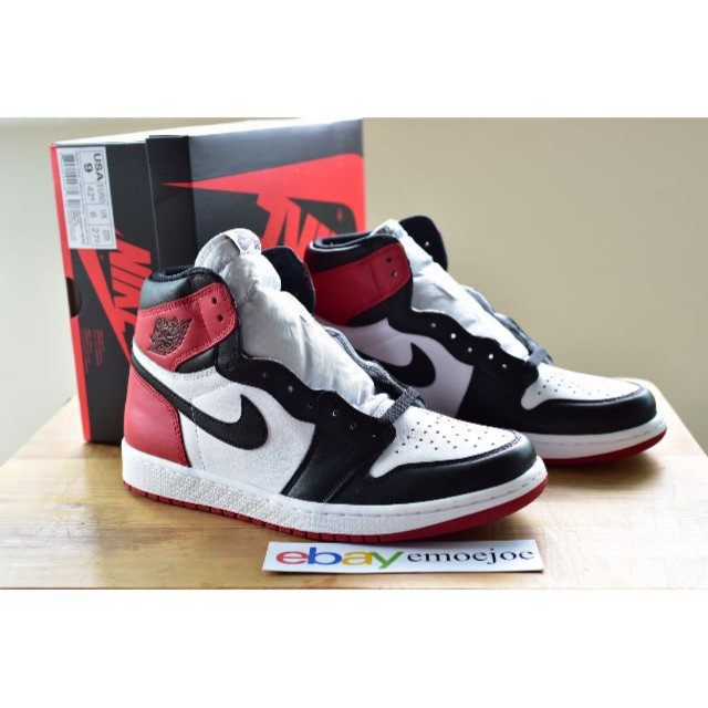 4b08b00171c27 Nike Air Jordan 1 Black Toe