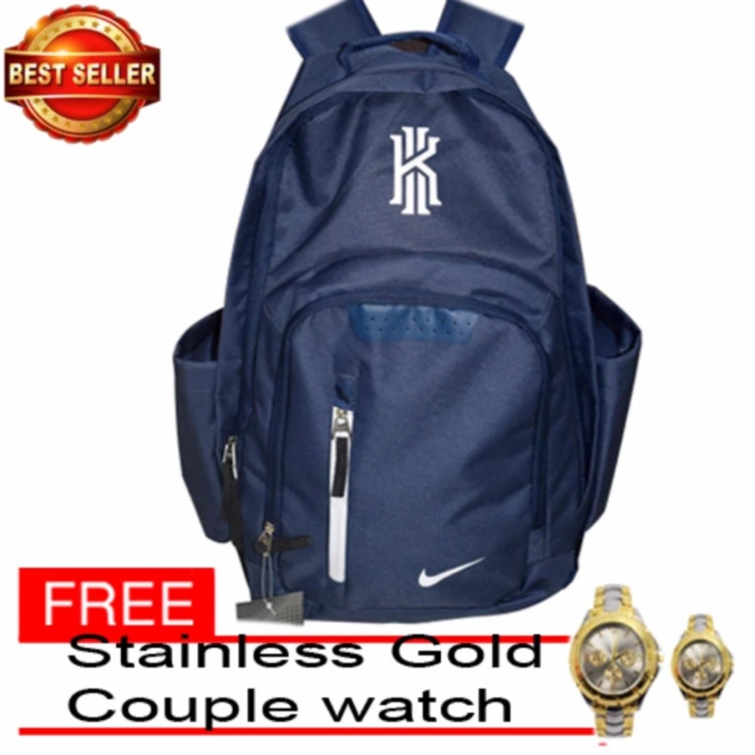 Nike Kyrie Backpack Navy Blue with free Silver-Stainless Gold Couple ... 88ebcd125a