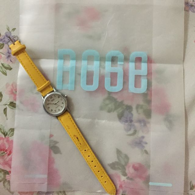 Nose yellow watch