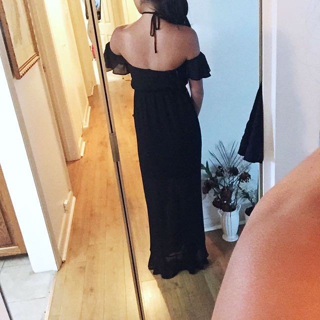 Off The Shoulder/neck Tie Dress