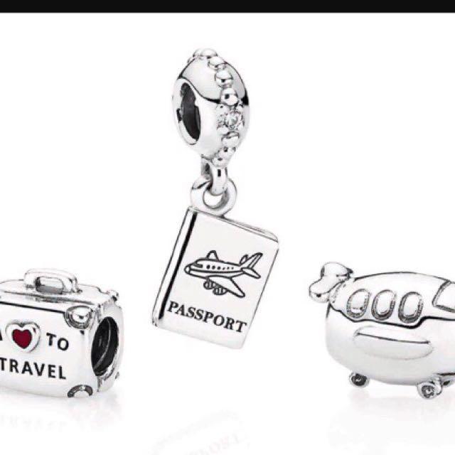 Pandora I love to travel Charm sets