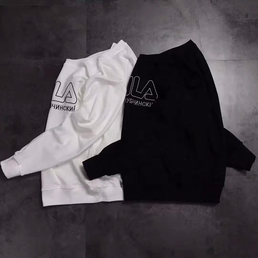 PDT Streetwear FILAs Gosha Rubchinskiy x Fila Tee 17ss Swearshirt Couple Sweatshirt O01