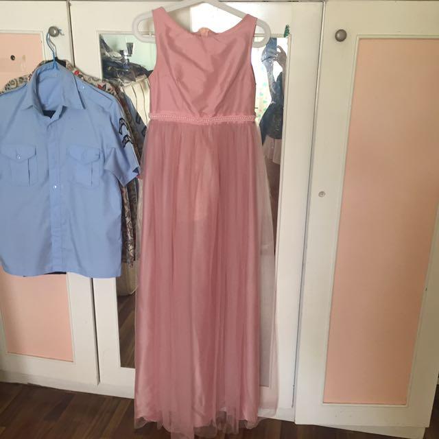 pink long dress (free androk)