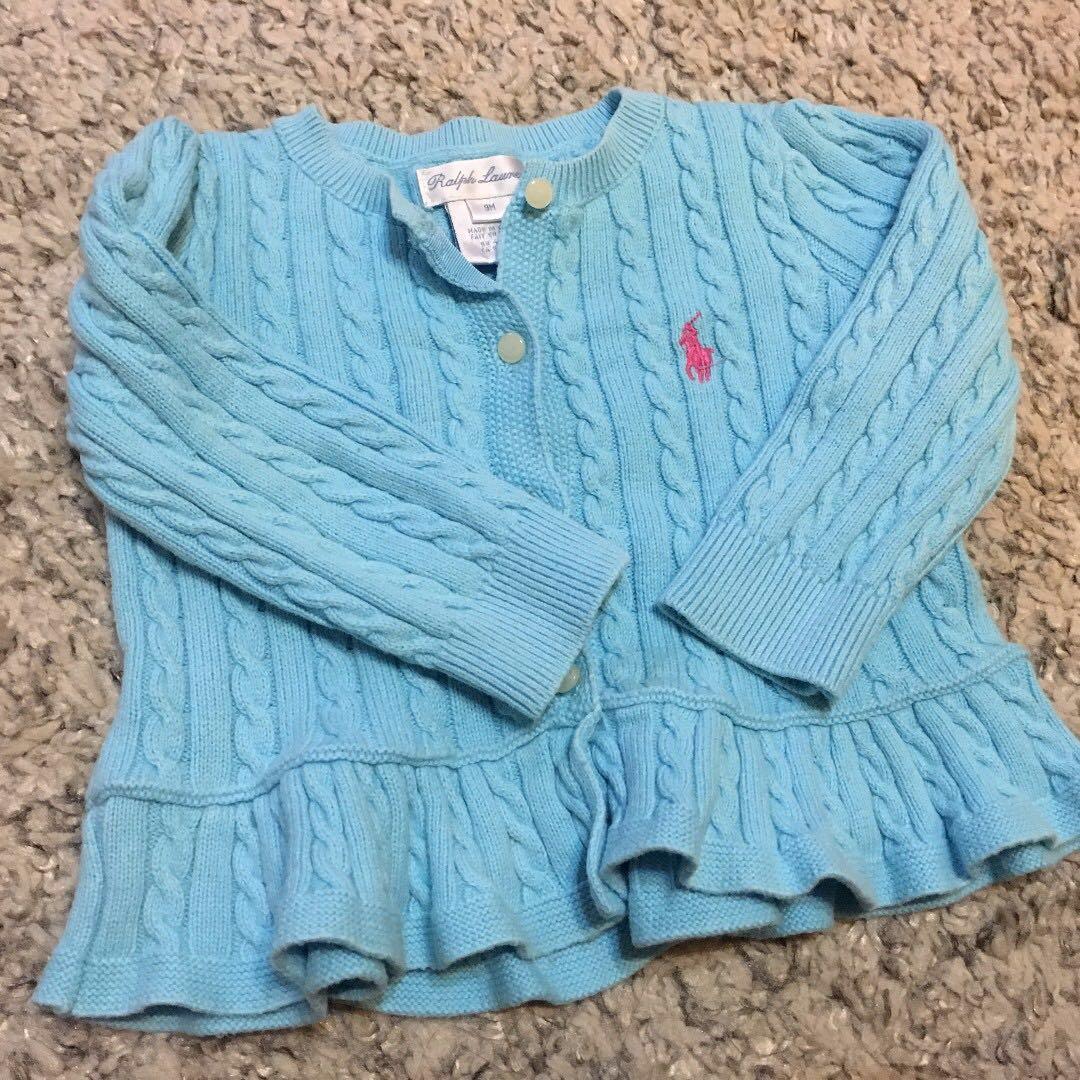 Ralph Lauren Frilly Knit Cardigan - 9 months - Girls