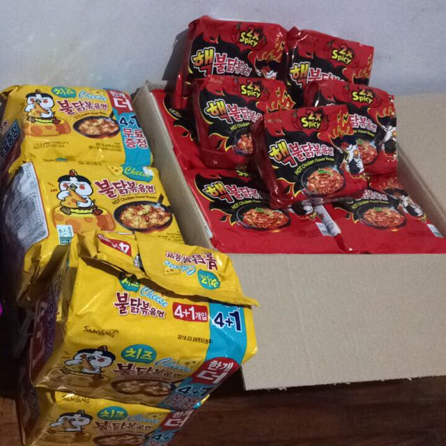 Ready to ship :) 1 box and 1 pack 2xspicy and cheese thank you po :)