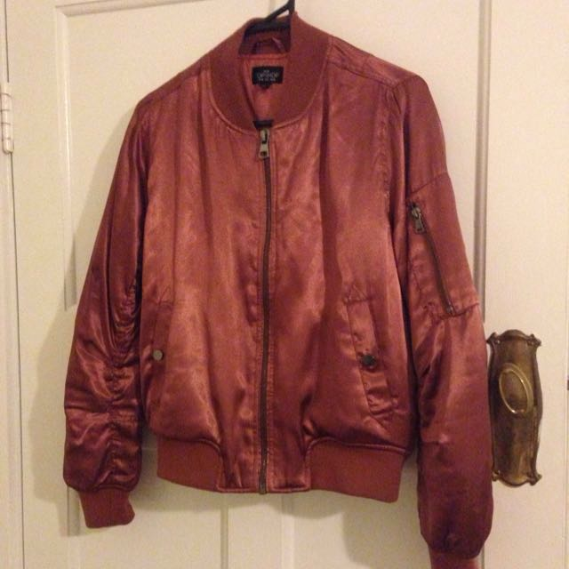 REDUCED Topshop Petite Satin Bomber Jacket Size 10