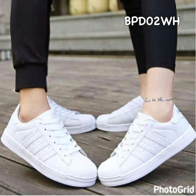 Sepatu Wanita Murah Sneakers White BPD02WH