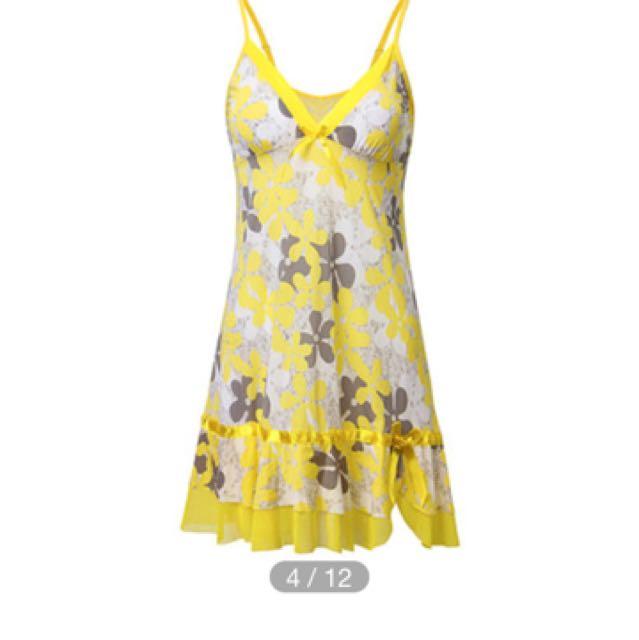 Sleepwear Floral Kuning