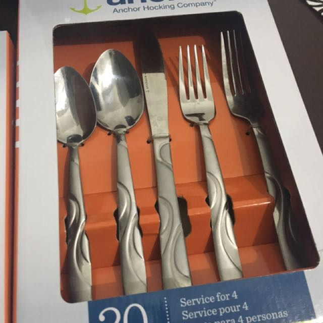 Spoons, Forks, Knives set  for 4 (20 pcs)