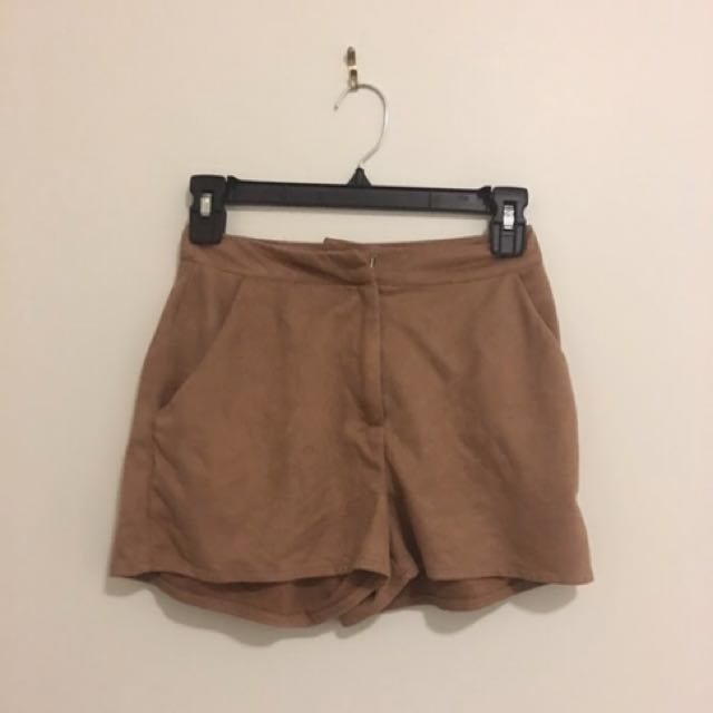 Suede Tailored Shorts