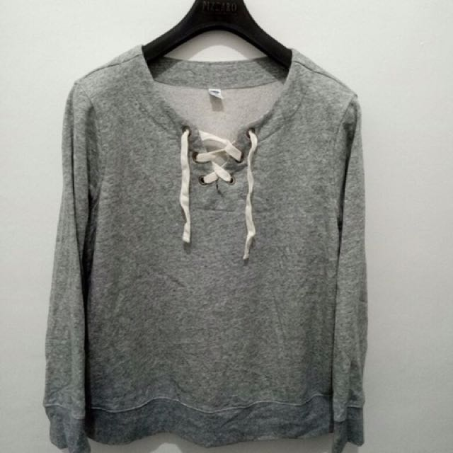 SWEATER OLD NAVY LACE UP ORIGINAL