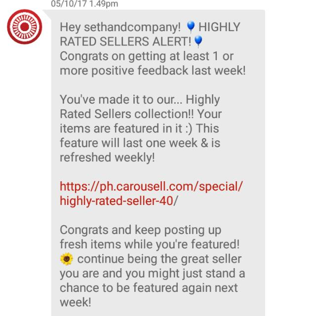 (6th) Thank You My Buyers And Co-sellers! Thanks Carousell!