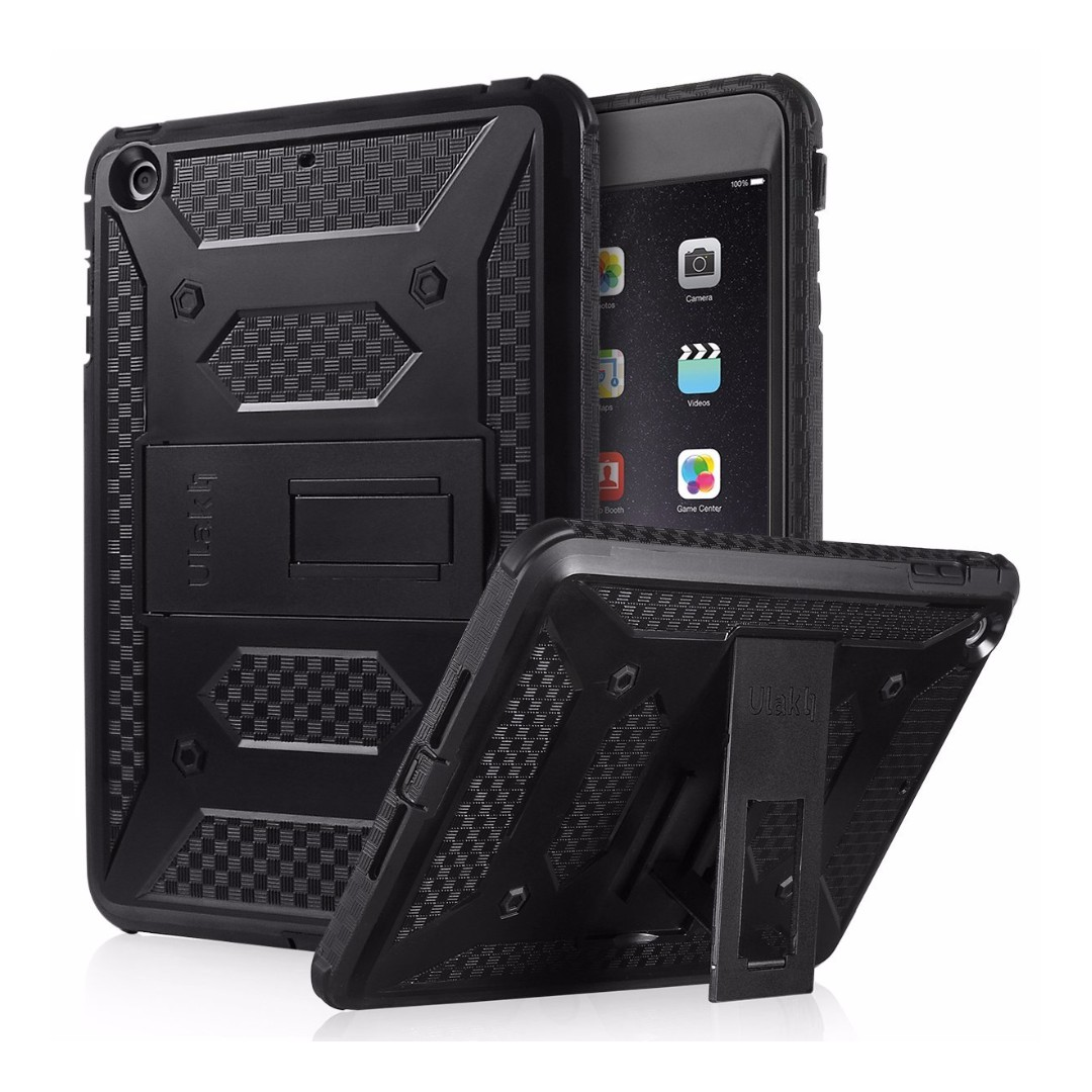 best sneakers 07a5e f864e ULAK iPad Mini Case [KNOX ARMOR] Full-Body Rugged Hybrid Protective Case  Kickstand for Apple iPad Mini 1/2/3 with Built-in Screen Protector ...