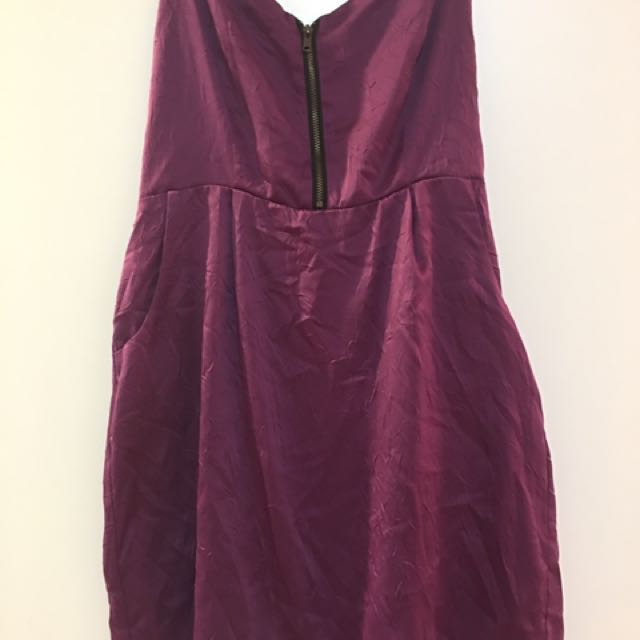 Urban Outfitters Purple Strapless Dress