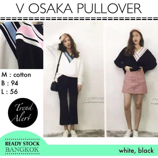 V Osaka pullover In Black