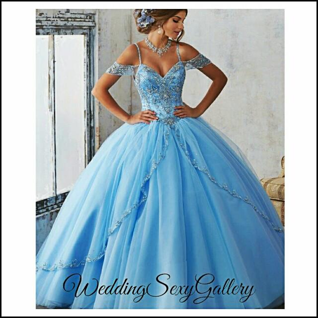 #2🌷◾PREORDER◾🌷Vestidos De 15 Anos Debutante Gowns Sweet Ball Gowns Cinderella Quinceanera Dresses Princess blue Quinceanera Dresses 2017