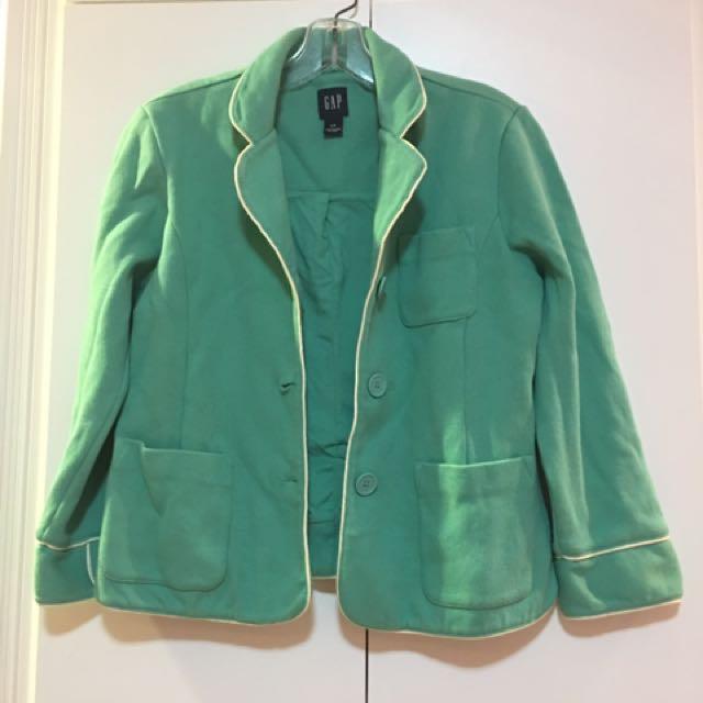 Vintage Gap Aqua Cotton Blazer