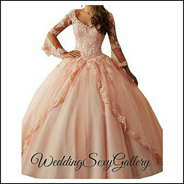 #7🌹◾PRE-ORDER◾🌹wejanedress Long Sleeve Quinceanera Dresses 2017 Ball Gown Sweet 16 Dresses Princess 15 Years Party Gowns vestido de 15 anos