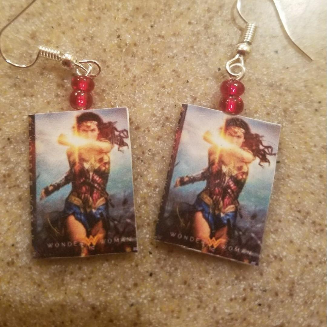 Wonder Woman DVD Earrrings