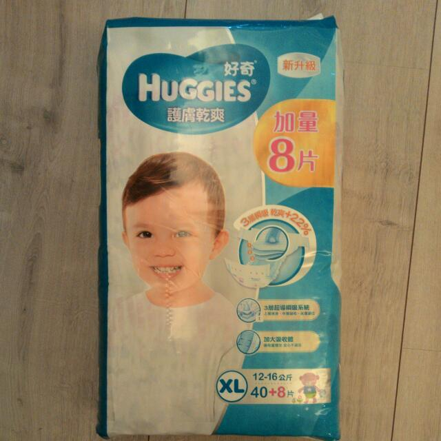 HUGGIES好奇護膚乾爽XL40+8片