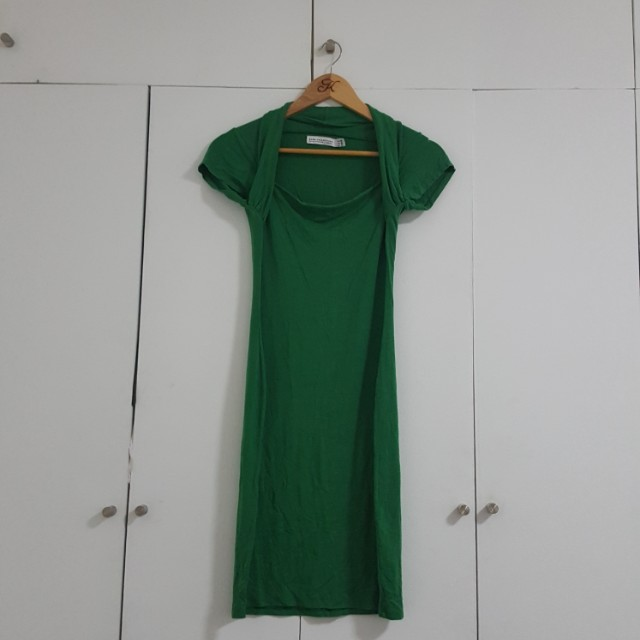 ZARA COLLECTION GREEN DRESS SIZE MEDIUM