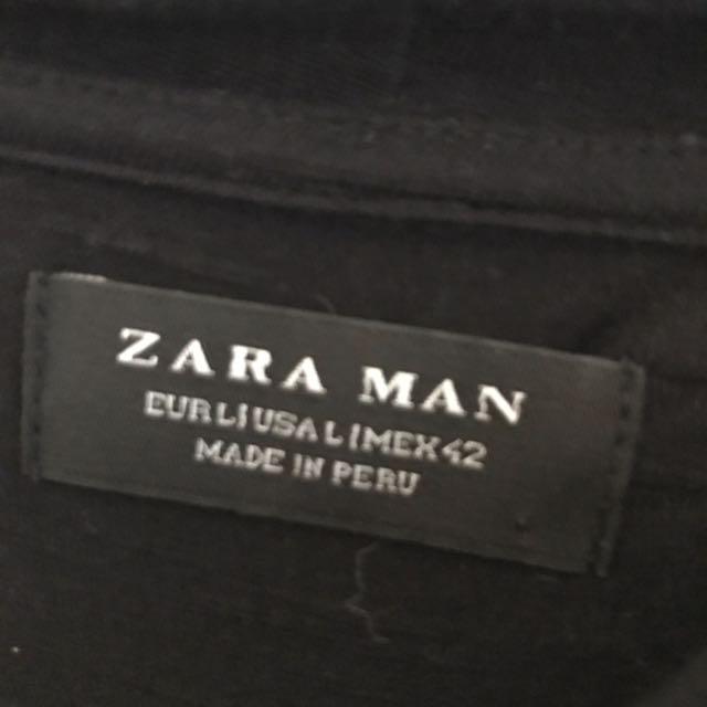 Zara man high neck tee