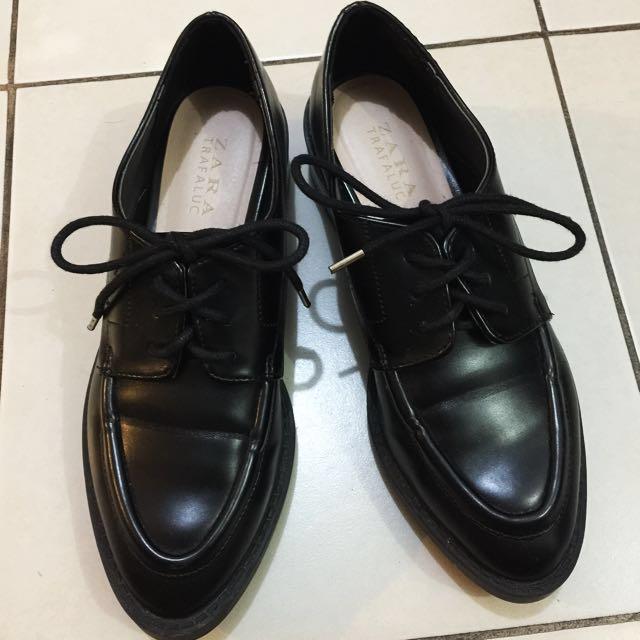 Zara Platform lace-up Oxford shoes