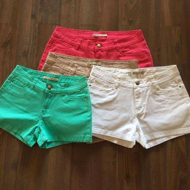 Zara TRF ladies SHORTS Made in Bangladesh! Size 26 to 32  Colors:  Pink White Brown Pastel Green