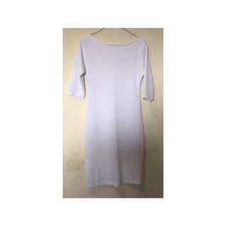 Reprice white midi dress