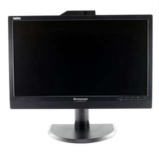 "Refurbished 21.5"" inch Lenovo LCD Monitor with HDMI, USB Hub, Webcam and Mic 1080p Warranty"