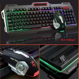 (FREE mousepad) Mechanical Gaming Keyboard + Mouse