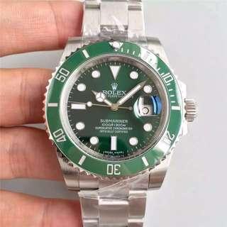 面交 高端奢侈品 Rolex Submariner 116610LV 綠圈綠面 40mm 116610