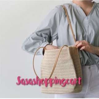 Solid straw weave women handbag summer beach should tote 💼