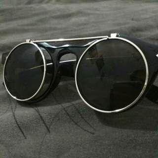 Kacamata Steampunk frame bulat