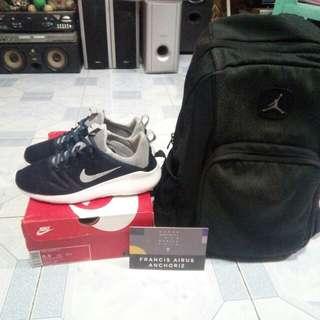 Jordan black cement backpack , kaishi run 2.0