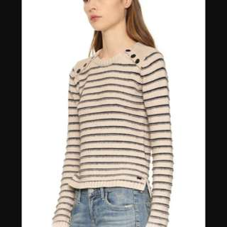 Maison Scotch Striped Sweater