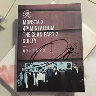 Monsta X Hyungwon Signed The Clan Pt.2 Guilty Version