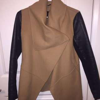 Mackage tan vane wool coat - xs