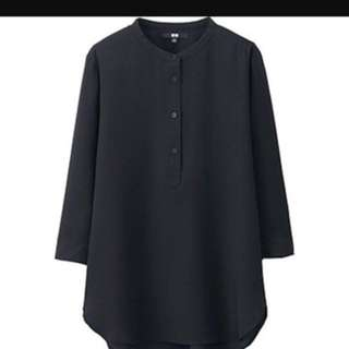 Uniqlo Silk Touch 3/4 Sleeve Blouse (size S)