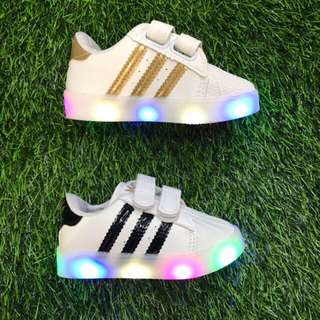 Hard sole baby Shoes with led light