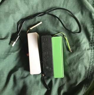 3 Portable chargers