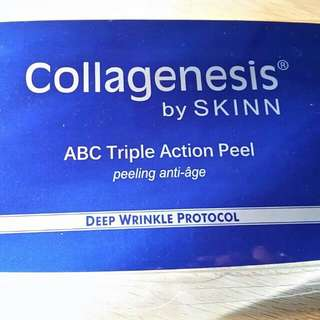 Collagenesis By Skinn ABC peel System Plus Free Bottle Of Collagenesis Line Peel.
