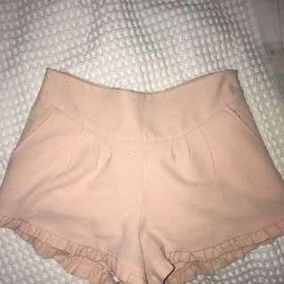 Chicabooti peach shorts size 8