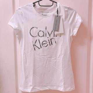 Calvin Klein Jeans CK 女 Logo 短T (S size)