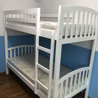 Double white decker bed! Best for kids!