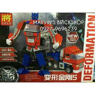For Sale Optimus Prime Transformer Building Blocks Toy LELE 39070