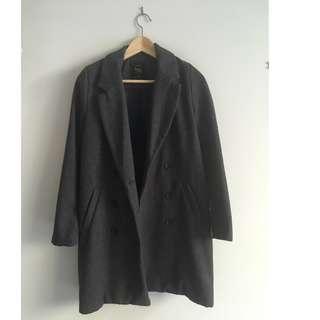 Grey Coat / Outerwear Jacket