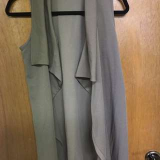 M boutique drape vest cardigan